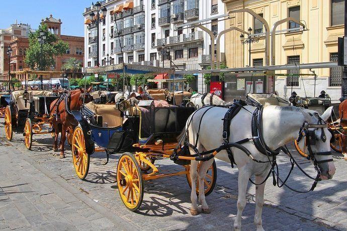 Paseo en coche de caballos en Sevilla