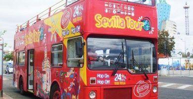 Autobús turístico en Sevilla