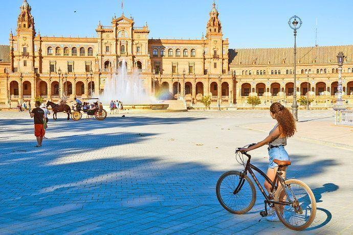ruta por Sevilla en bicicleta