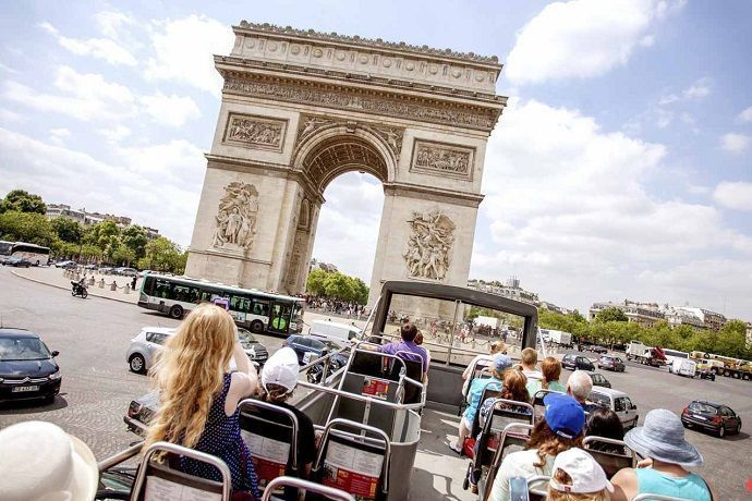 Tour desde Londres hasta París en tren. Autobús turístico por París