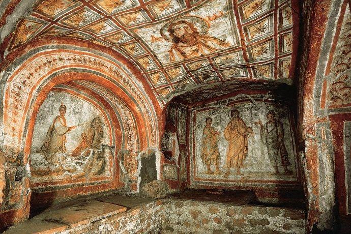 Tour por las catatumbas de Roma.