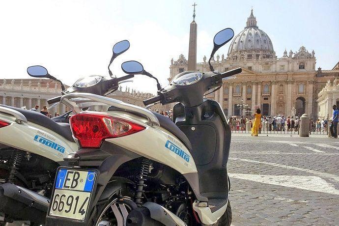Visita guiada en moto por Roma