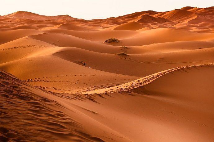 Arena del desierto de Dubái.