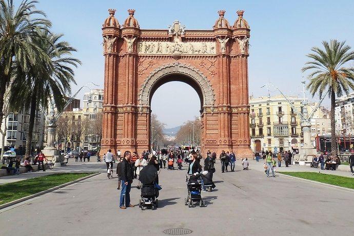 Guía privado en Barcelona. Arco del Triunfo.
