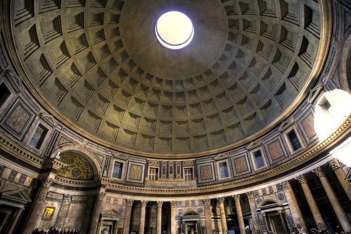 cúpula del Panteón de Roma.