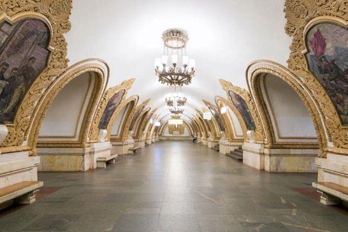 Tour guiado por la estación de Kievskaya.