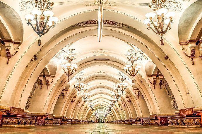 Guía privado por el metro de Moscú.