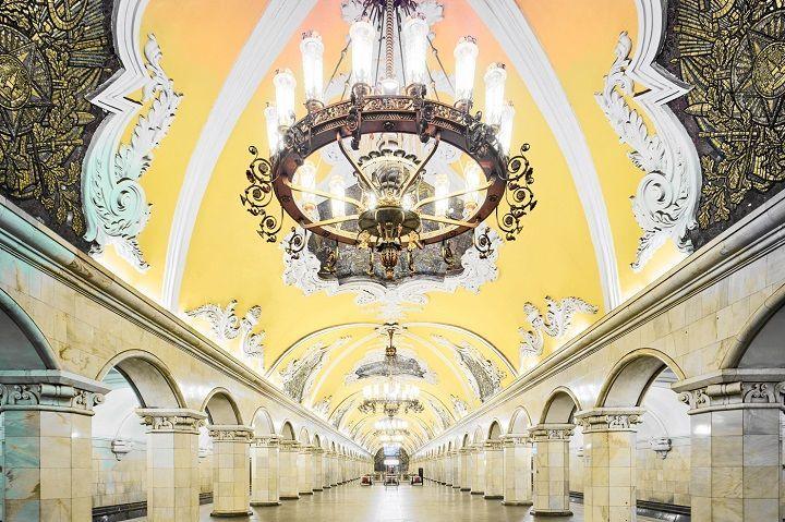 Visita guiada metro de Moscú.