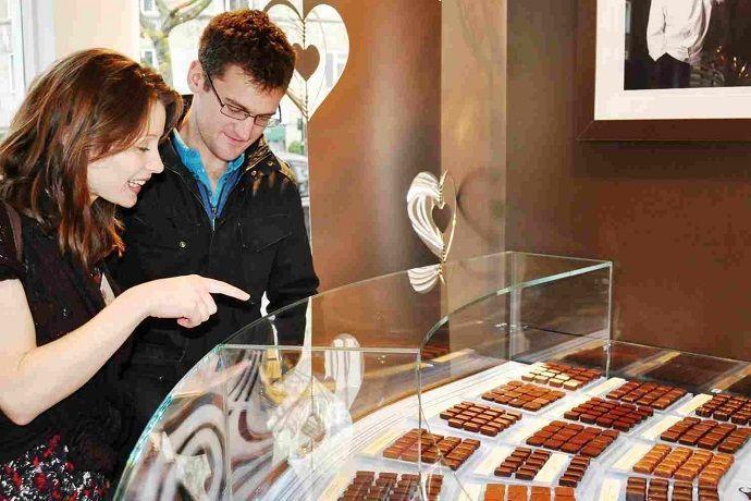 Confitería de chocolate Belga.