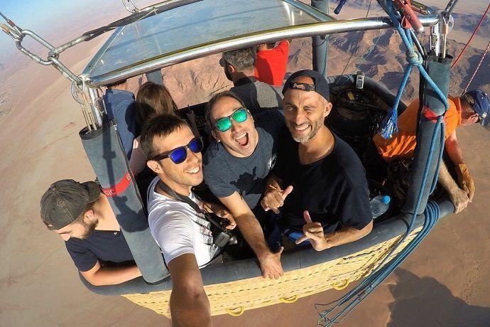 Vuelo en globo. Desierto de Dubái