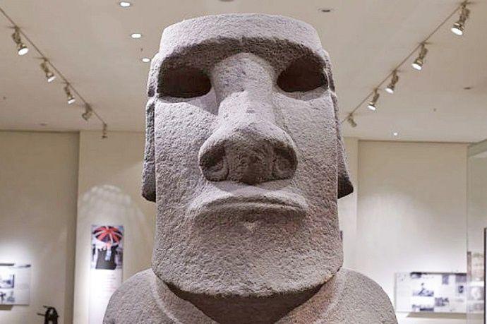 Moai en el Museo Británico.