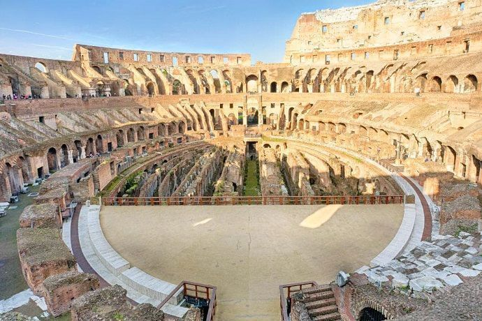 Terreno de juego Coliseo de Roma