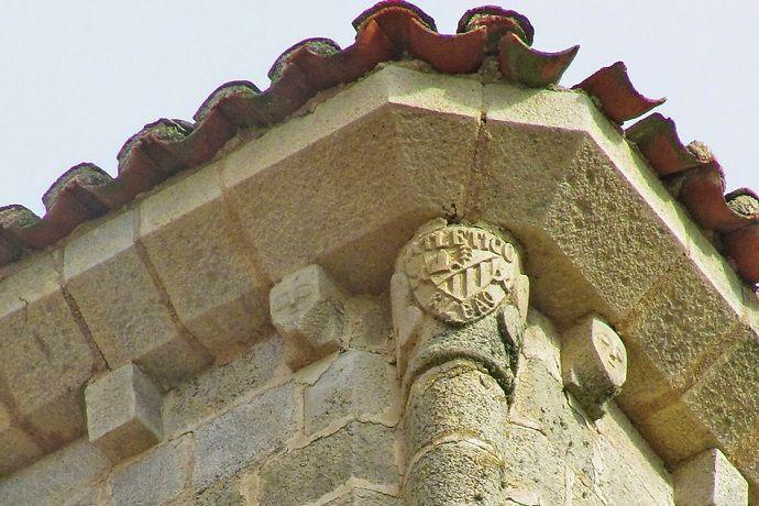 Escudo del Athletic de Bilbao Torre Santa María la Mayor.