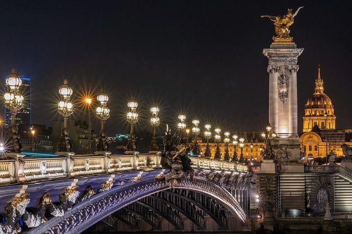 Ruta París de noche