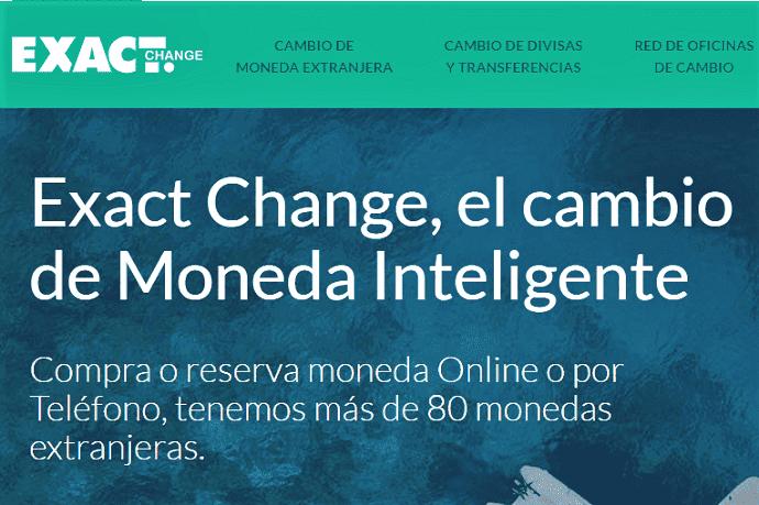 cambio moneda Libra Exact Change